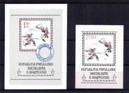 ALBANIE ALBANIA Shqiperia 2 BF ** MNH Perf & Imperf : Danses Folkoriques Folk Escrime, Sabre, Fencing, Sword, AUSIPEX 84 - Albanie