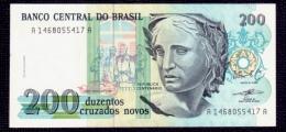 Brazil 200 Cruzados Novos 1989 P.221 UNC - Brésil