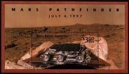 "USA 1997 MiNr. 2903 (Block 39)  ** / Mint  Marsmission Pathfinder, Marsfahrzeug ""Sojourner"" - Space"