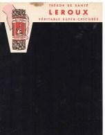"""ARDOISE """" MONT-HOUY """"  TRESOR DE SANTE CHICOREE LEROUX Scan Recto Verso - Publicités"""