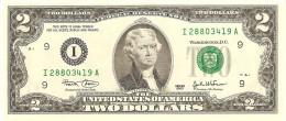 """U.S.A. 2 DOLLARS 2003 PICK 516a LETTER """"I"""" UNC"""