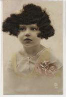 Carte à Cheveux Tres Jolie Petit Fille Avec Cheveux Reels Card With Original Hair - Cartes Postales