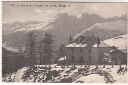 CPA La Route De Simplon En Hiver, Refuge IV (pk16394) - VS Valais