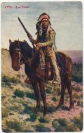 Chef Indien A Cheval Avec Carabine 1773 Red Eagle Aigle Rouge  Indian Chief - Indiens De L'Amerique Du Nord