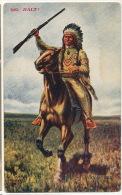 Chef Indien A Cheval Avec Carabine 1682  Halt Chas.Craig  Indian Chief - Indiens De L'Amerique Du Nord