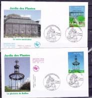 FRANCE 2009    FDC   ENVELOPPE 1  Er JOUR JKARDIN DES PLANTES  4384 4385 - FDC