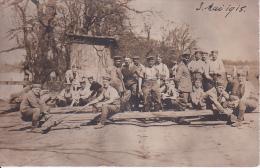 AK Foto Gruppe Soldaten - Lager Lockstedt - Feldpost - 1915 (13231) - Kasernen
