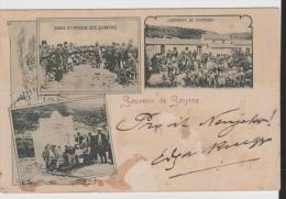 Tur158/ Smyrne, Ansichtskarte Versandt In Die Schweiz über österr. Postamt. NeuJahr 1899 - 1837-1914 Smyrna