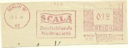Nice Cut Meter SCALA Deutschlands Weltvarite, Berlin 13-6-1941 - Theater