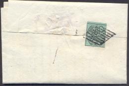 1859 ROMAGNE LETTERA DA BONDENO A FERRARA CON 1 BAJ PONTIFICIO USATO IN G.P. RARA!! 3000 Euro - Romagne