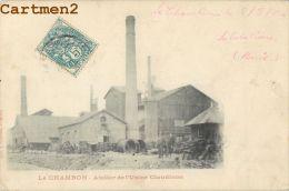 LE CHAMBON FEUGEROLLES : ATELIER DE L'USINE CLAUDION - 1904 - OUVRIERS - FABRIQUE - CPA 42 - Le Chambon Feugerolles