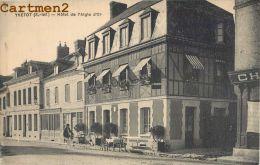 YVETOT : HOTEL DE L'AIGLE D'OR - DEVANTURE - CPA 76 - Yvetot