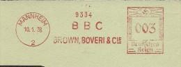 Nice Cut Meter BCC Brown, Boveri & Cie, Mannheim 10/1/1938 - Elektriciteit