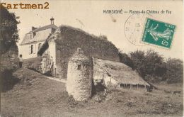 MANSIGNE : RUINES DU CHATEAU DE FAY - CPA 72 - Other Municipalities