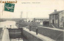LA SUZE SUR SARTHE : ECLUSE DU CANAL - USINE - FABRIQUE - ANIMEE - CPA 72 - La Suze Sur Sarthe