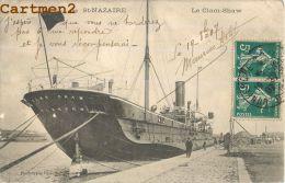 SAINT NAZAIRE : LE CLAM SHAW - NAVIRE - BATEAU - PAQUEBOT - ATTELAGE - LES QUAIS EN CONSTRUCTION - CPA 44 - Saint Nazaire