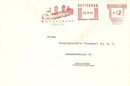 Firm Cover With Nice Meter HANSAVAART Ship, Rotterdam 22/3/1967 - Boten