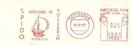 Firm Cover With Nice Meter Pictorial SPIDO Havenrondvaart Rotterdam 10/4/1957 - Boten