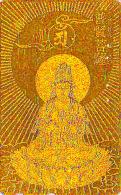 T�l�carte dor�e OR Japon - RELIGION - BOUDDHA -  Japan GOLD phonecard - BUDDHA Telefonkarte - 1426