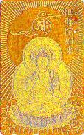 T�l�carte dor�e OR Japon - RELIGION - BOUDDHA ** ONE PUNCH ** -  Japan GOLD phonecard - BUDDHA Telefonkarte - 1427