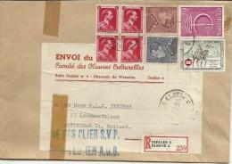 Belgium Registered Cover Ixelles & Elsene  Envoi Du Comite Des OEuvres Culturelles - België