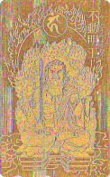 T�l�carte dor�e OR Japon - RELIGION - BOUDDHA  -  Japan GOLD phonecard - BUDDHA Telefonkarte - 1428