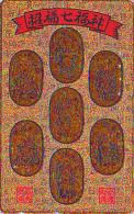T�l�carte dor�e OR Japon / 110-011 - RELIGION - BOUDDHA / 7 DIEUX DU BONHEUR - Japan GOLD phonecard - BUDDHA - 1430