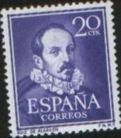 Spagna Spain Spanien Espagne 1950 Juan Ruiz De Alarcon 1v Complete Set ** MNH - 1931-Oggi: 2. Rep. - ... Juan Carlos I