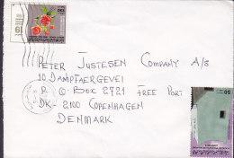 Libya BENGHAZI 1988 Cover Brief To COPENHAGEN Denmark Septemberrevolution Rosen & Ghadames Mosque Stamp - Libye