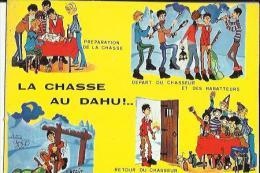 Carte Glacée De La Chasse Au Dahu  Voir Scan - Caza