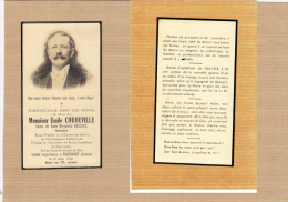 Image Mortuaire Emile COUDEVILLE Epoux BAILLIEUL Notaire  1940 Framicourt Faire Part Doodsprentje - Décès