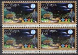 """Colombia 2014 ** 4x Navidad. """"pintores Con La Boca Y Con El Pie"""". See Description - Colombie"""