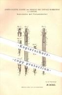 Original Patent - Joseph E. Cousté & Francis Mac Donald Robertson In London , 1883 , Federhalter Mit Tintenbehälter !!! - Schreibgerät