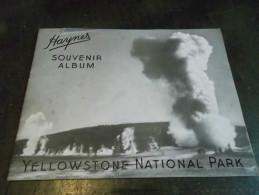 HAYNES SOUVENIR ALBUM  YELLOWSTONE NATIONAL PARK - Exploration/Voyages