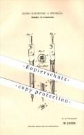 Original Patent - Georg Schoenner In Nürnberg , 1882 , Bleihalter Für Einsatzzirkel , Zirkel , Schreibmaterialien !!! - Schreibgerät