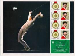 CHINA CHINE 2008 BF ** MNH Olympic Games PEKIN / BEIJING Sport : Escrime Fencing Vainqueur Sabre Indiv. Zhong Man - Escrime