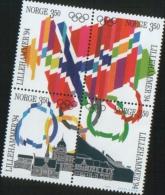 Norvegia Norway Norvege  1994 Winter Olympic Games Lillehammer 4v  Se Tenant Complete Set  ** MNH - Nuovi