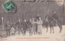 COINCOURT - 54 - DOUANES - DOUANIERS - DOUANE -A LA FRONTIERE UNE RENCONTRE AU POTEAU FRONTIERE DE COINCOURT - ANIMATION - Douane