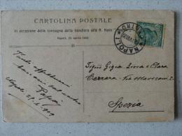 CARTOLINA POSTALE IN OCCASIONE DELLA CONSEGNA DELLA BANDIERA ALLA R.NAVE NAPOLI 25 APRILE 1909 - 106 ANNI!!! - Napoli (Naples)