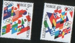 Norvegia Norway Norvege  1994 Winter Olympic Games Lillehammer 2v    Complete Set  ** MNH - Nuovi