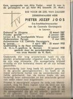 45A//  ° HINGENE 1867  E.H.PIETER JOOS + BORNEM 1958 LKR TE WAVER/PASTOR PERWEZ EN GEVANGENIS TE LEUVEN - Devotion Images