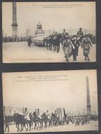 9322-N°. 2 CARTOLINE PARIS - 11 NOVEMBRE 1920 FETES DU CINQUANTENAIRE DE LA REPUBLIQUE-FP - Militari