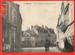BOURGES - Place Planchat Et Avenue De La Gare - Bourges