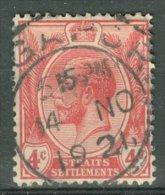 MALAYA - STRAITS SETTLEMENTS 1912-25: ISC 174 / YT 162 / Sc 154 / SG 198 / Mi 159, O - FREE SHIPPING ABOVE 10 EURO - Straits Settlements
