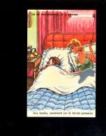 """Illustration Illustrateur PAUL ORDNER Humour Sexy Woman Pétanque Couple Au Lit """" Aux Boules Sur Le Terrain Penseras """" - Ordner, P."""