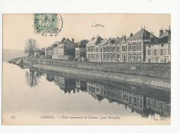 91 CORBEIL ECOLE COMMUNALE DE GARCONS QUAI BOURGOIN CPA BON ETAT - Corbeil Essonnes