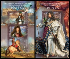 CENTRAL AFRICA 2015 - Louis XIV, M/S + S/S Official Issue - Koniklijke Families
