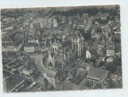 Louviers (27) : Vue Aérinne Générale Au Niveau Du Quartier De L'église  En  1950 (animé) GF. - Louviers