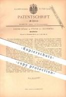 Original Patent - Jacob Spear In Fürth Bei Nürnberg , 1885 , Bleistifthalter , Schreibmaterialien , Zeichnen !!! - Schreibgerät