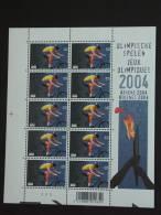 België Belgique Belgium 2004 JO OS Athene Mountainbike Feuillet PLANCHE 2 Cob 3304 Yv 3290 MNH ** - Libretti 1962-....